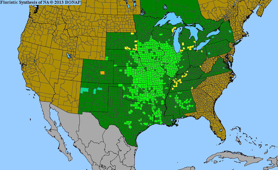 Range Map for Compass Plant